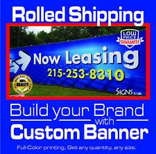 36 X 60 Custom Vinyl Banner 13oz Full Color Free Design Included Ship Rolled