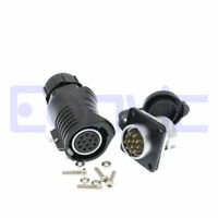 Lp20 Waterproof LED Female Plug Circular Wire Connector 2 3 4 5 6 7 8 9 10 12Pin