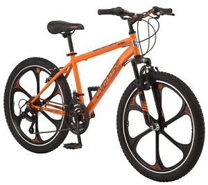 "Boy's 24"" Awesome Alert Mag Wheel Mountain Bike, 7 Speeds, Orange, Ages 8+"