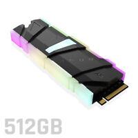 Asura Genesis Xtreme RGB 512GB SSD M.2 NGFF 2280 PCIe 3.0 x4 3D TLC NVMe M-key