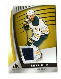 RYAN O`REILLY NHL 2017-18 SP GAME USED GOLD JERSEY (SABRES,BLUES,AVALANCHE)