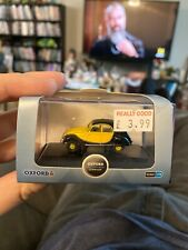 1:76 Scale Oxford Die Cast Citroen 2CV Charleston Yellow Black Car