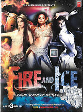 FIRE AND ICE - NEW BOLLYWOOD SOUNDTRACK 3CDs SET - FREE UK POST