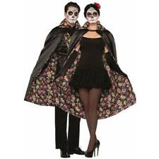 Unisex Day of the Dead Cape Adult Halloween Fancy Dress Costume
