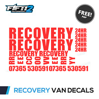 RECOVERY Vinyl Graphics Kit Van Truck Lorry Decals Sign Writing inc PHONE!