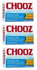 Chooz Antacid Calcium Supplement - 12 Mint Gum Pieces (Pack of 3)