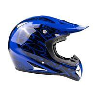 Blue Adult Motocross Helmet DOT Off-road Dirt Bike ATV UTV MX MTB