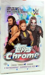 2020 TOPPS WWE CHROME HOBBY BOX BLOWOUT CARDS