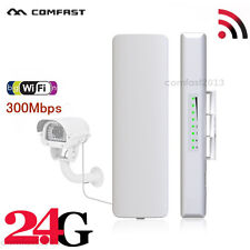 2.4G 300Mbps Outdoor Long Range Wireless Access Point CPE WiFi Router Bridge UK