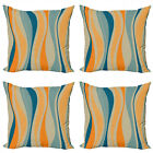 Ambesonne Vintage Elements Cushion Cover Set of 4 for Couch and Bed in 4 Sizes