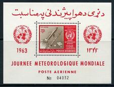 Afghanistan: 1963 Meterological Day Airmail Souvenir Sheet (C50a) MNH