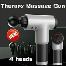 Massage Gun Percussion Massager Muscle Vibration Therapy Deep Tissue 4 Heads