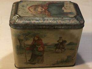 RARE McCall & Stephen Biscuit Manufacturers Tin - Glasgow - Jeanie Deans