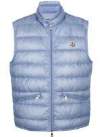 Authentic Moncler Gui Gilet Light Blue Jacket Body Warmer Vest Size 4 Large