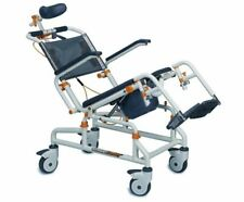Showerbuddy SB3T Water Resistant Shower Commode Roll in Tilt Chair for Disabled