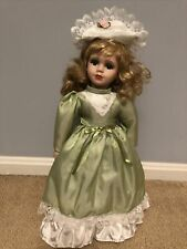 "Vintage Ashley Belle Porcelain Doll HADLEY Mint 15"" Blonde Hair & Certificate"