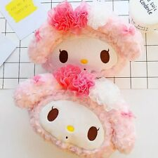 2pcs My melody rose fuzzy plush bone pillow cushion car neck cushions pillows