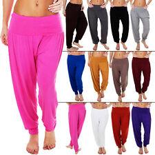 Nueva camiseta para mujer Largo Completo Harén Alí Babá Hareem Pantalones Pantalones Talla Plus S M L XL 8