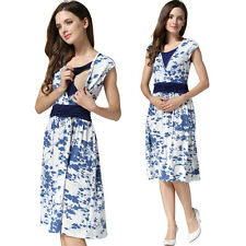 SALE NEW FLORAL MATERNITY BREASTFEEDING NURSING DRESS SIZE M L XL 8 10 12 14 16