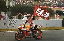 Marc Marquez signed Moto GP 12x8 photo Image P UACC Registered Dealer