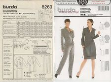 out-of-print:  burda international 8260, pattern, Gr. 34 - 46,  sizes 8 up to 20