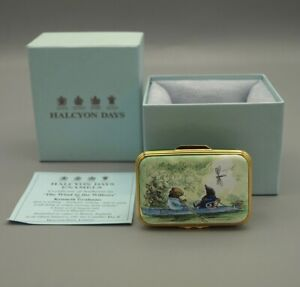 Boxed Ltd Ed Halcyon Days  - The Wind In The Willows  Enamel Box