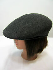 Brooks Vintage Gray 100% Wool Cabbie Cap Hat Made in ENGLAND Men's size M 7 1/8