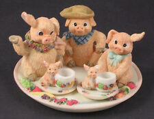 Pig Miniature Tea Set Collection 1995 with Original Box