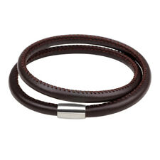 New Double Circle Leather Bracelet for Men Women PU Bangles Fashion Jewelry