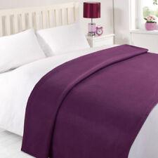 Couvertures violette en polyester pour le lit Chambre à coucher