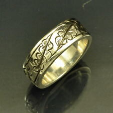 Hand Engraved Silver Band