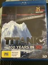 Titanic 100 Years In 3D Blu Ray - Excellent Condition - FAST & FREE SHIPPING