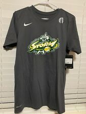 WNBA Seattle Storm #30 Stewart Cotton Tee Size Small Dark Grey