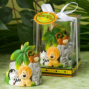 Jungle Critters Colorful Jungle Theme Tealight Holder Baby Shower Favors