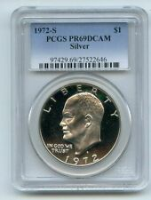 1972 S $1 Silver Ike Eisenhower Dollar Proof PCGS PR69DCAM