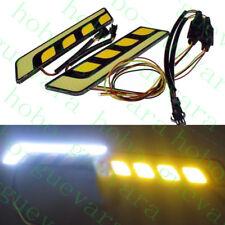 2X Car SUV WHITE+YELLOW LED Daylight Bulb DRL LAMP Daytime Running Light diy