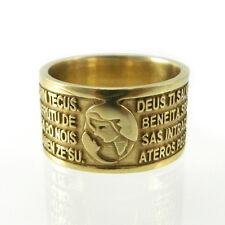 Anello fede sarda in bronzo preghiera Ave Maria in sardo Mis 24