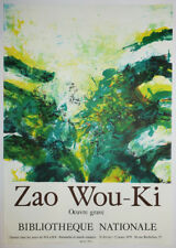 "ZAO WOU-KI ""AFFICHE d'Exposition: Zao Wou-Ki, Œuvre gravé"" 1979. LITHOGRAPHIE"