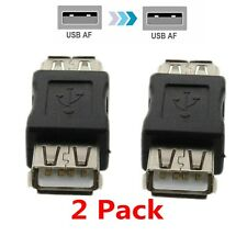2X USB 2.0 Type A Female to USB 2.0 Female Coupler Connector Extension Adapter