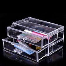 Acrílico Transparente Maquillaje Organizador Cosméticos Joyería Pantalla Caso de almacenamiento cajones