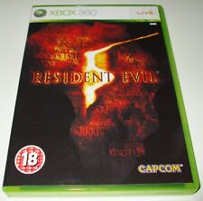 XBOX 360 ** RESIDENT EVIL 5 ** X-BOX 360 SURVIVAL HORROR ZOMBIE SHOOTER GAME