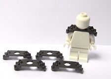 Lego 5 Grey Shoulder Armour  For Knight Soldier Minifigure Not Included