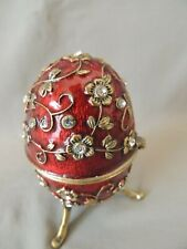 Collectible Cloisonne Bronze Egg Decorated with petals