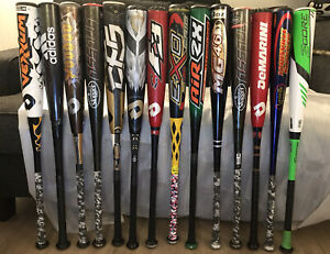"33""/30oz BBCOR & BESR Demarini, Louisville Slugger Easton Wort Baseball Bats"