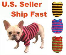 USA Dog Clothes Warm Fleece Sweater Cute Pullover Strips Sweatshirt Coat Puppy