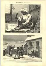 1877 intagliatore di SIMLA Natale Fair Sassonia Incisione