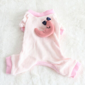 Yorkie Pajamas PJ's Dog Puppy Teacup Pet Clothes XXS - Small XS for Maltese Cat