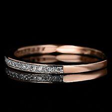 14K Rose Gold Over Half Eternity Band Milgrain Diamond Wedding Anniversary Ring