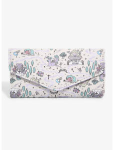 Disney Alice In Wonderland Pastel Map Flap Wallet by Loungefly - New, With Tags