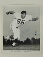 Buck Buchanan Autographed Kansas City Chiefs 8x10 Photo Signed TO BILL GRIGSBY